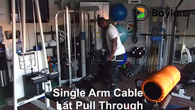 Single Arm Cable Lat Pull Through