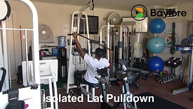 Isolated Lat Pulldown