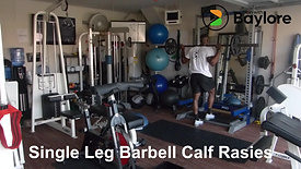 Single Leg Barbell Calf Rasies