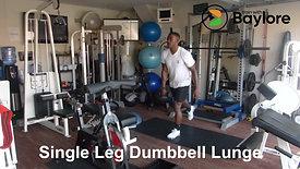 Single Leg Dumbbell Lunge
