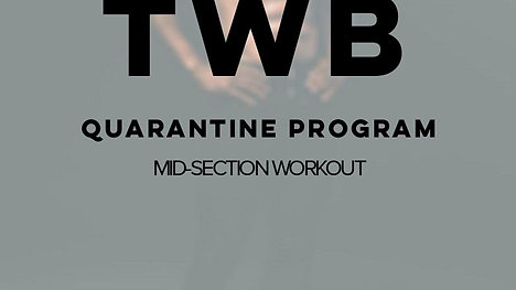 MID-SECTION WORKOUT (Beginners)