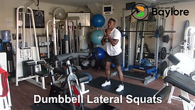 Dumbbell Lateral Squats