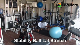Stability Ball Lat Stretch