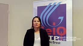 Alexandrine, maçon VRD dans l'entreprise EUROVIA Brest