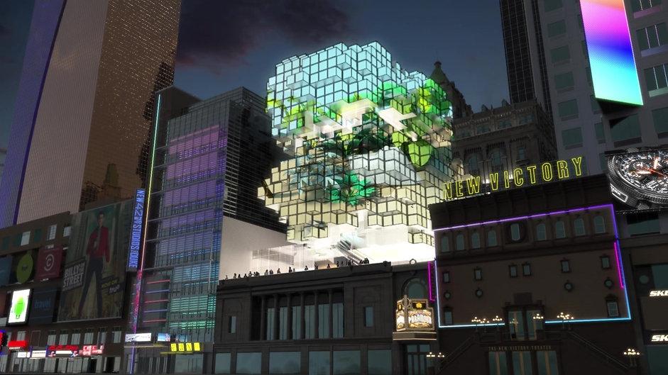Times Square Theatre - Video Skin