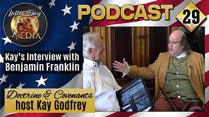 """29 Kay Godfrey - The Great """"Multi-Tasker"""" Benjamin Franklin In-person"""