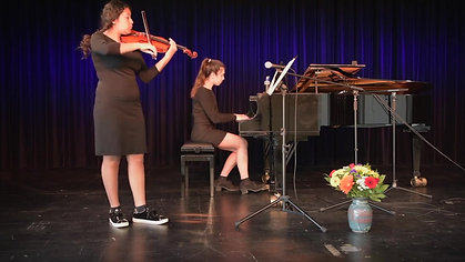 Beethoven Spring Sonata Opus 24 - Malaika Wainwright & Aricella Schäfer - Jugend Musiziert Competition