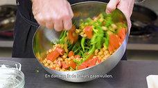Gele Thai curry met kikkererwten en quinoa