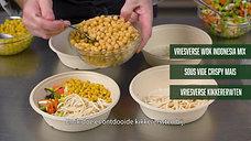 Oosterse noodlesoep met kikkererwten en mais