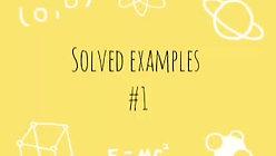 ELECTROSTATICS SOLVED QUESTIONS #1