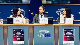 Enrica Sabatini presenta Rousseau Parlamento europeo (Bruxelles) -  9 aprile 2019