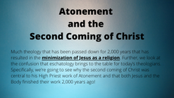 Atonement and the Second Coming of Christ