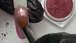 High Pink Chrome & Glitter Ombre brush The BLOOOM by GlossySwan