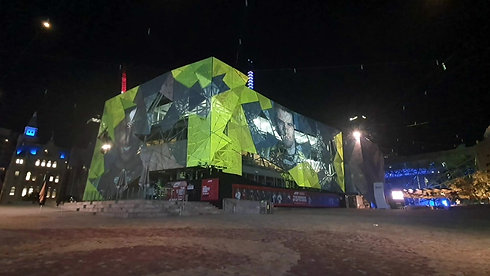 F1 Melbourne Projections - Federation Square