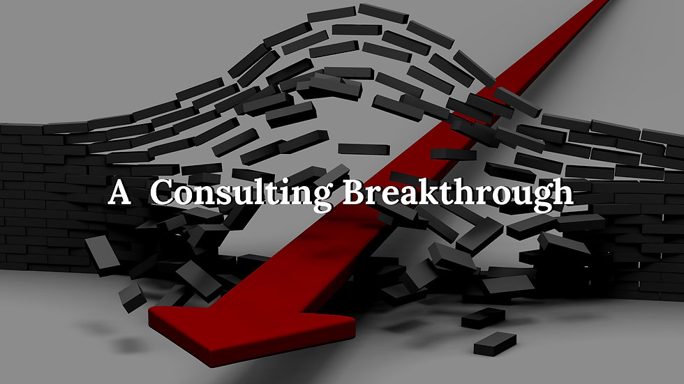 A consulting breakthrough