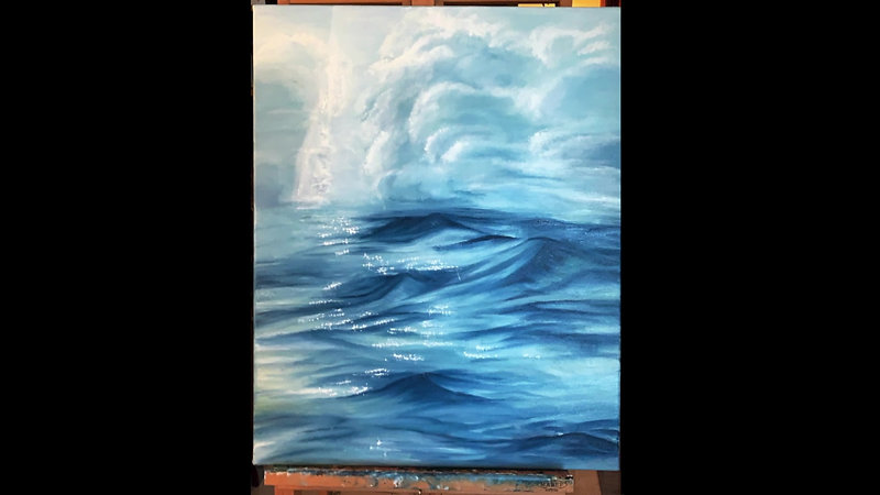 Mountain Waves - Oil Painting