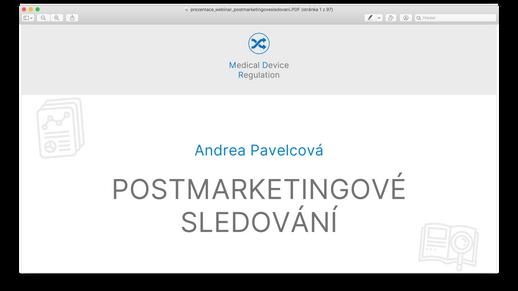 Postmarketingové sledování podle MDR