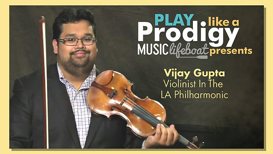Learn From A Master: Take Violin Lessons With World-Class Master Violinist Vijay Gupta, former Violinist In The Los Angeles Philharmonic