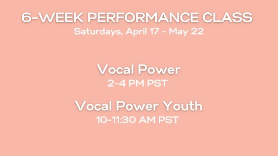 Info for Vocal Power Class