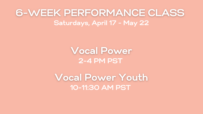 Info for Vocal Power Class