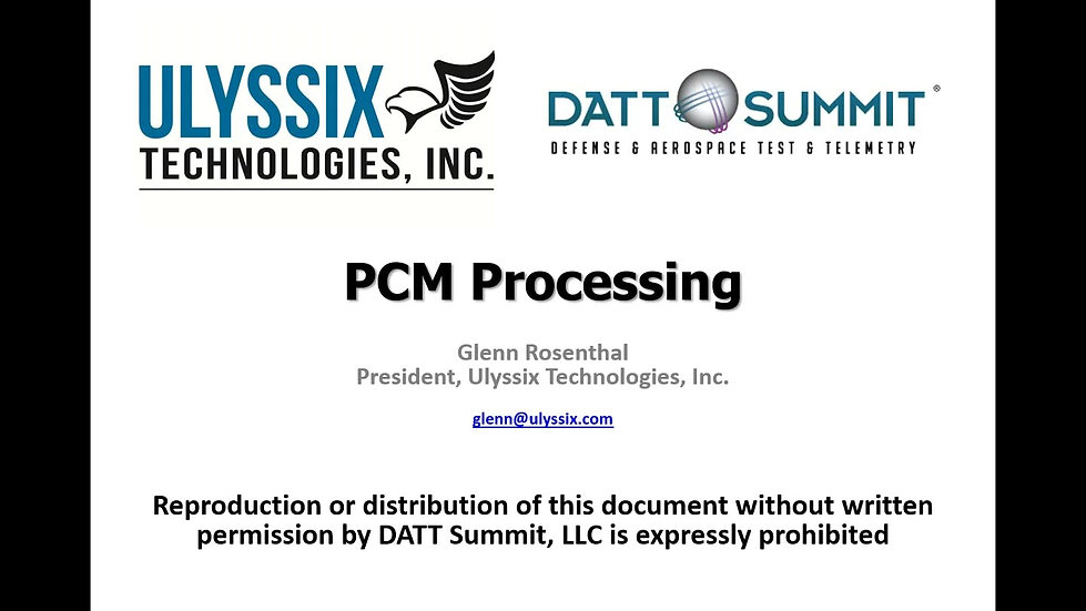 PCM Processing Videos