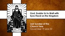 Twenty-fifth Sunday after Pentecost - November 22, 2020
