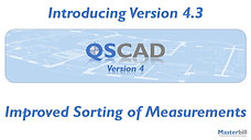 QSCadv4 - Improved Sorting of Measurements
