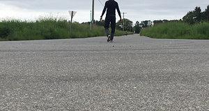 Fast outside bike ride