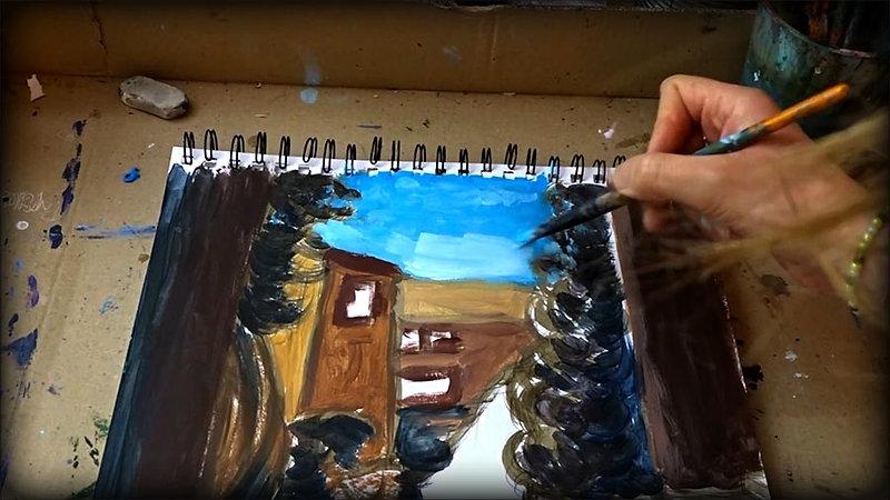 cours #1 - Peindre l'ombre dans un paysage