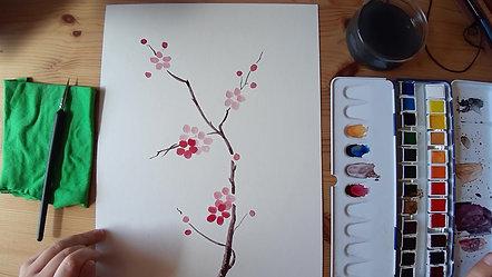 Microtaller Flor de Ciruelo