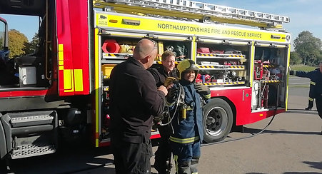 Taz being fitted with the equipment