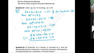 Equation - Part 1 - CA Foundation - May 2021 - Lecture 44 - Date 16-04-2021