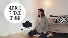 Meditatie - A peace of mind