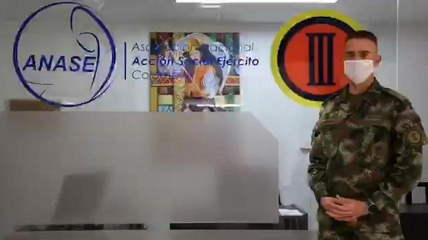 ANASE REALIZA VIDEO CAMPAÑA COVID 19 PERSONAL MILITAR EN POPAYAN