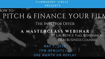 How to Pitch and Finance your Film - The Investor Offer -Webinar.