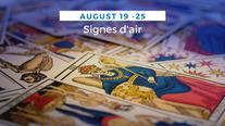 Tarot hebdo des signes d'air (Gémeaux, Balance et Verseau)