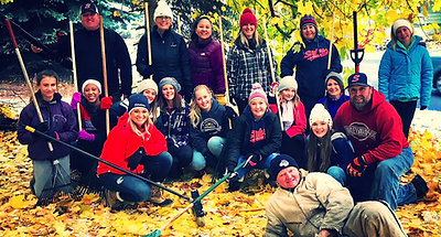 Community Service Video Leaf Raking