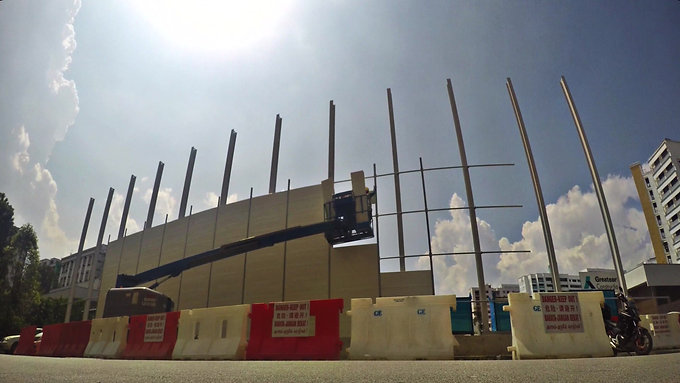 Noise Control Barrier Installation