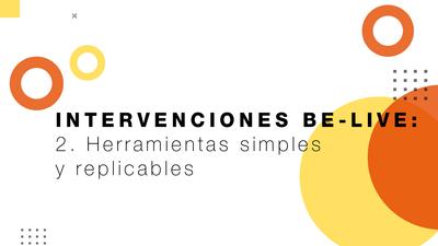 Herramientas simples y replicables