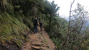 Hiking to Mt. Laconte in the Smoky Mountains.
