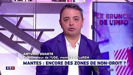 Cité, sécurité : Antonio DUARTE invité de LCI