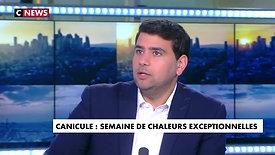 Climat, Europe. Le Secrétaire Général de l'UDE invité de CNews, le 23 juin 2019