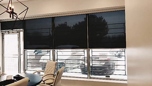 Motorized Office Space Roller Shades