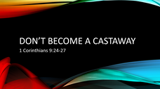 Don't Become a Castaway