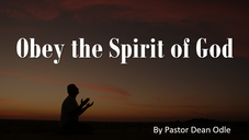 Obey the Spirit of God
