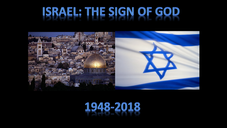 Israel: The Sign of God