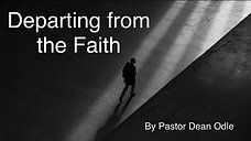 Departing from the Faith