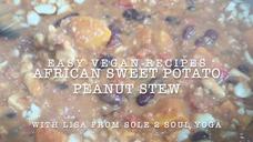 African sweet potato peanut stew