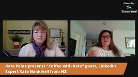 Kate Nankivell, LinkedIn profile expert, on Coffee with Kate