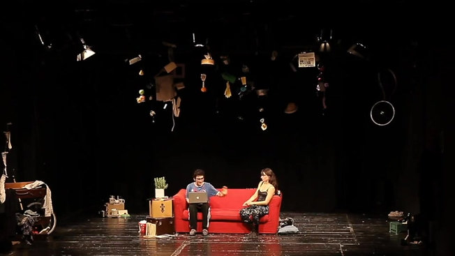 Theater: Neighbors. Scene di Leo e Petra. With Irene Turri.